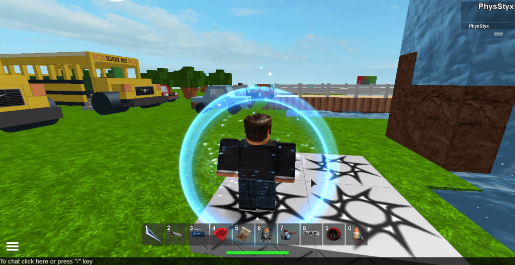 Forcefield being used on Roblox